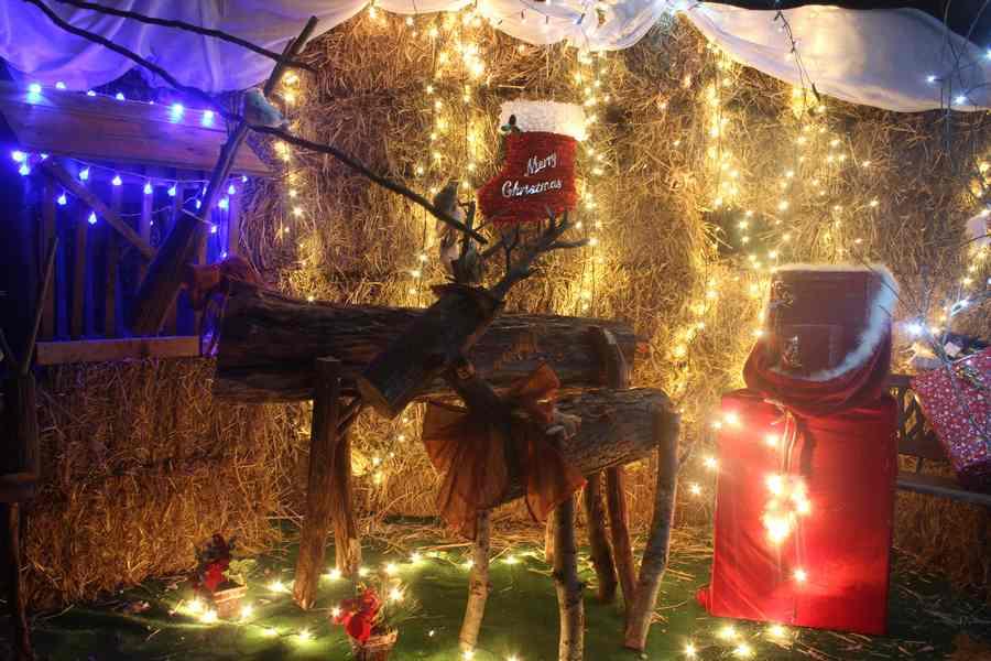 la cabane de Noël de la ferme du Pré Charmant