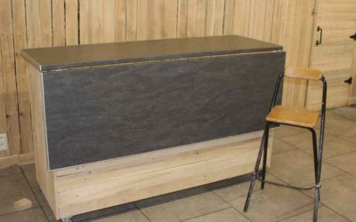 Création d'un meuble polyvalent pour la nouvelle salle de la Ferme du Pré Charmant